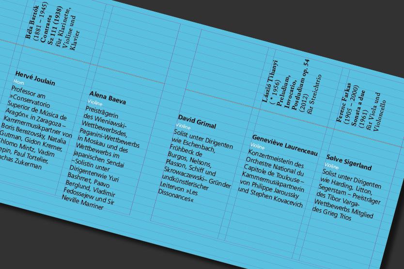 TypoIntensiv Uebung: Booklet fuer CD, Innenseite, Rasteransicht (Arbeitsprobe)