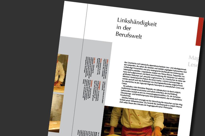 TypoIntensiv Uebung: Fachzeitschrift fuer Linkshändigkeit (Arbeitsprobe)