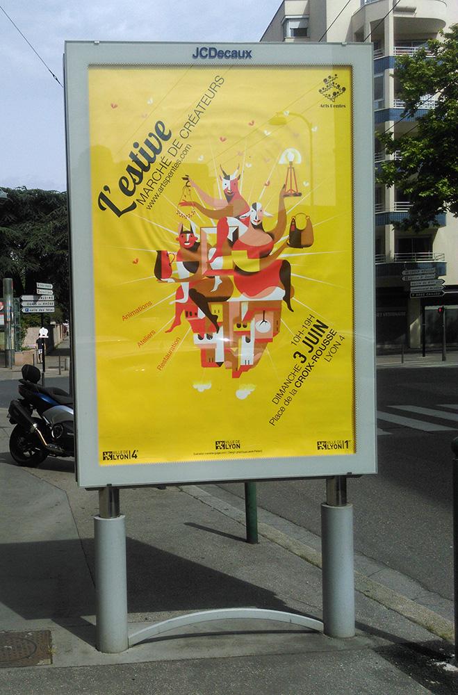 Poster, Affiche, Lyon, 3