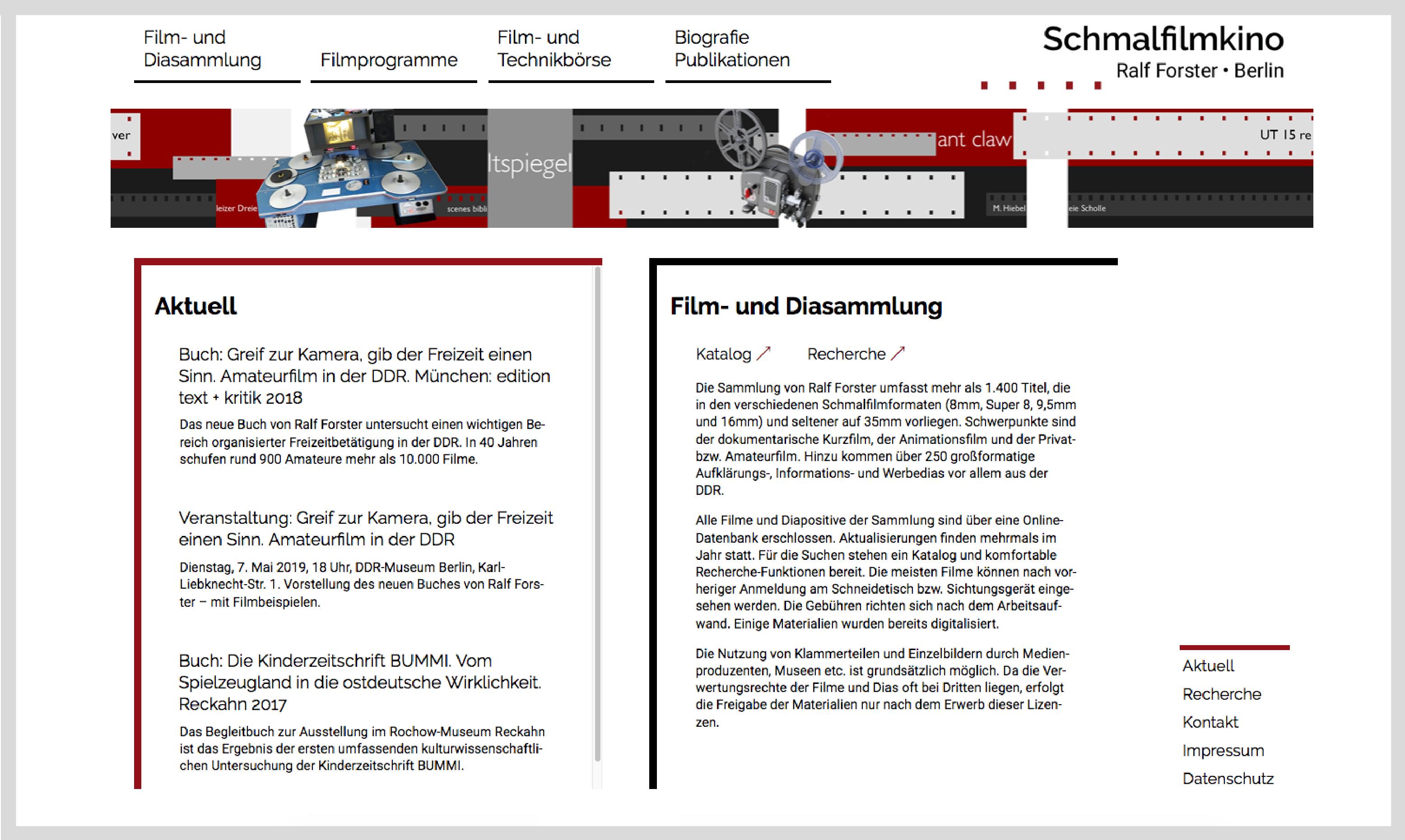 Webseite schmalfilmkino 1