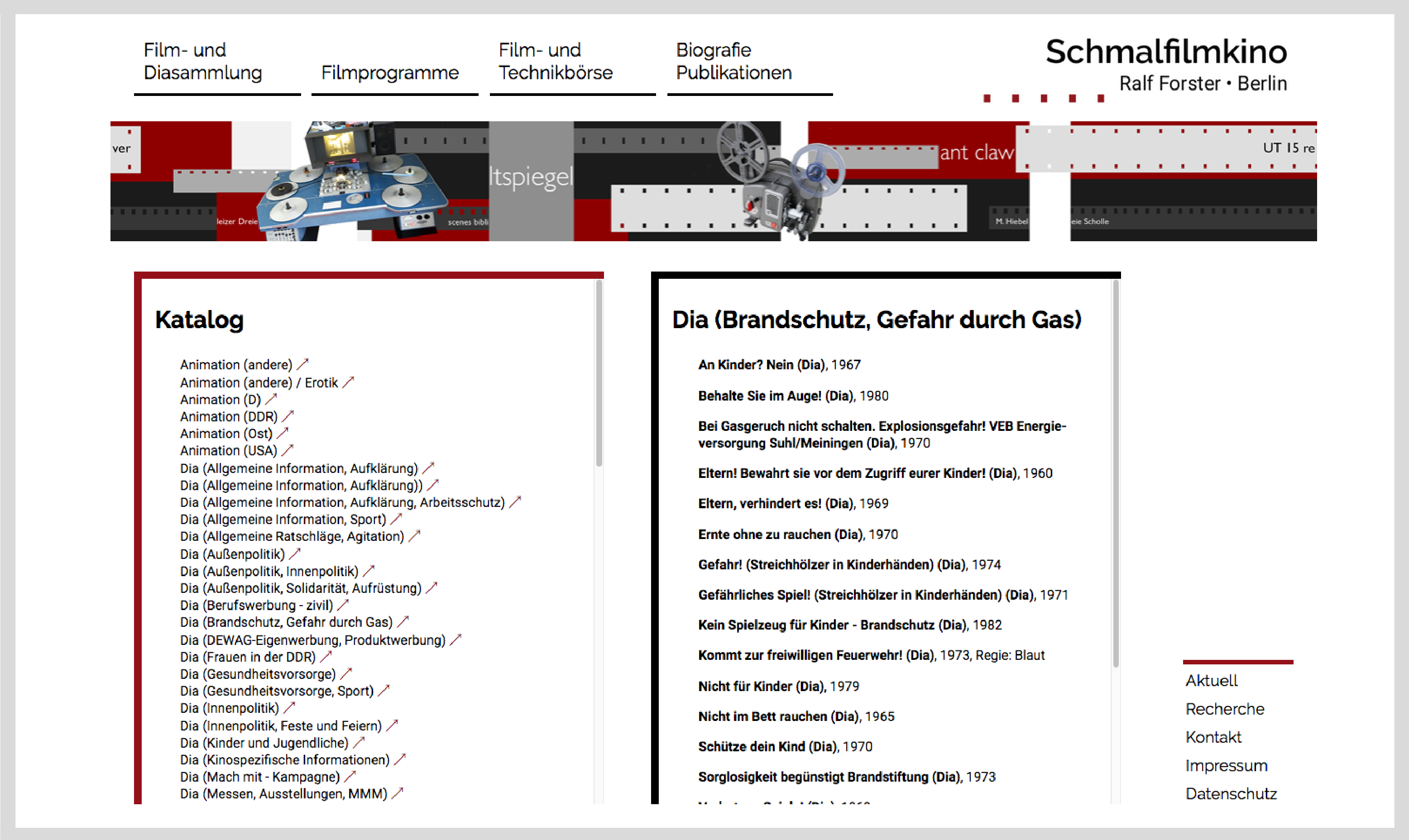 Webseite schmalfilmkino 2