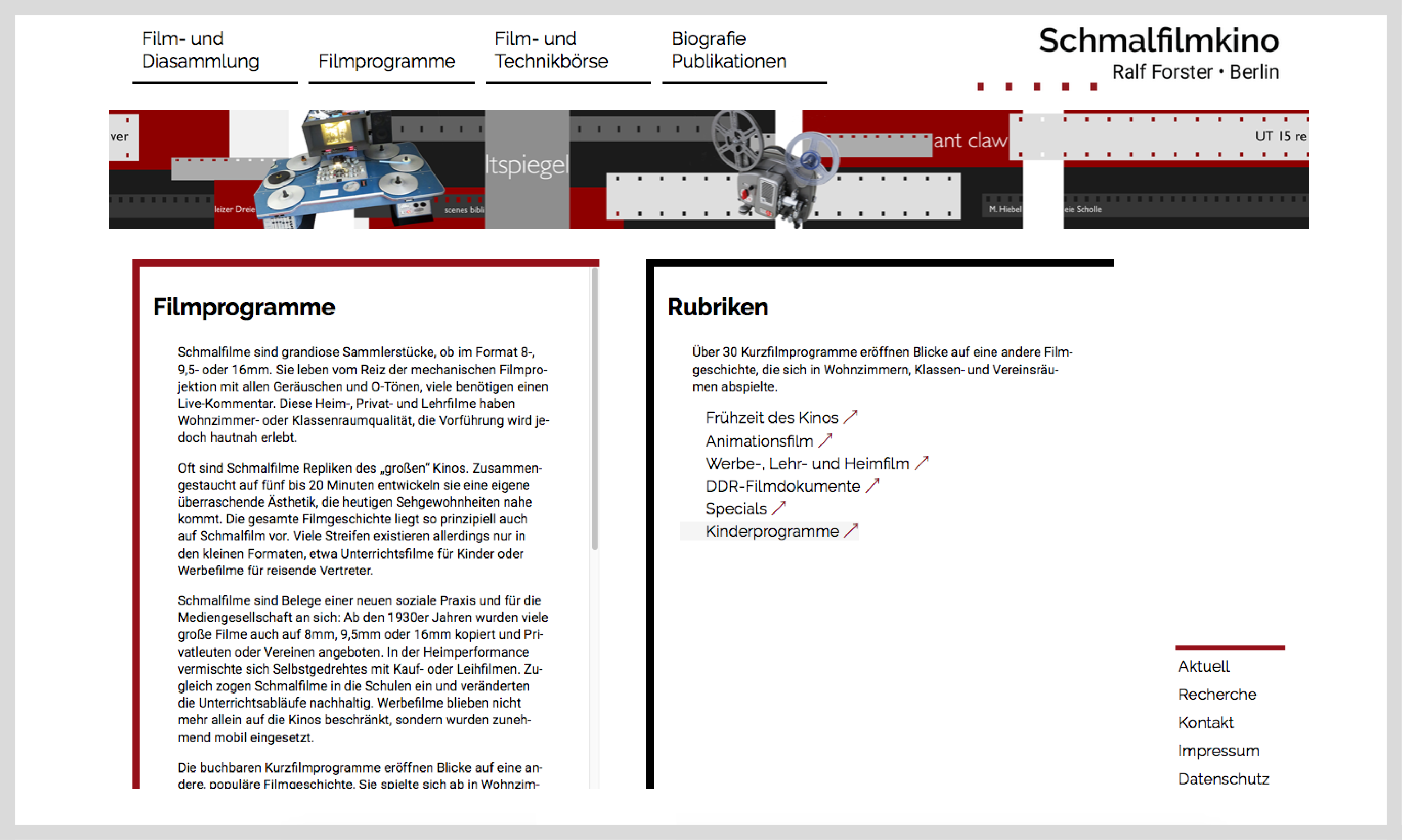 Webseite schmalfilmkino 3