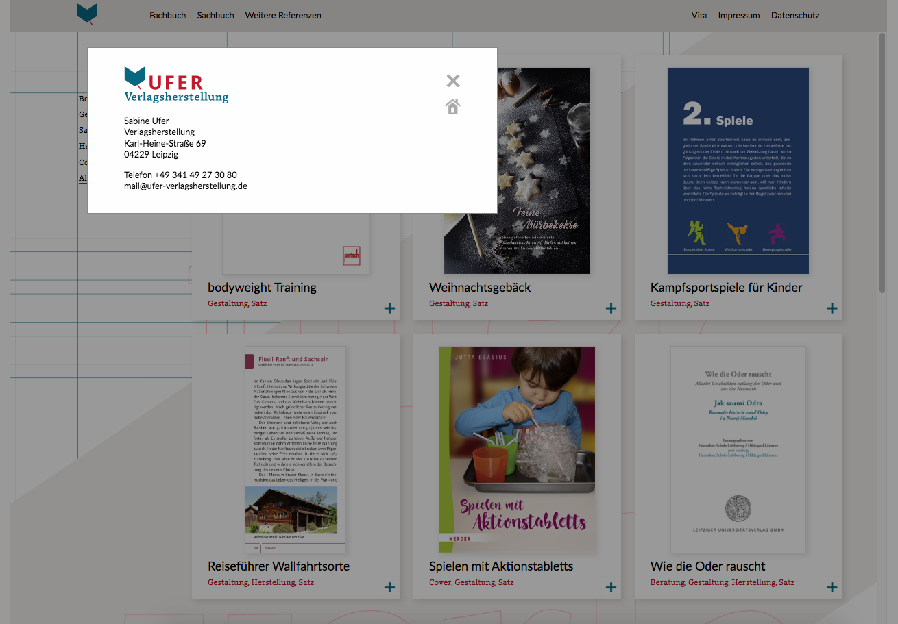 ufer-verlagsherstellung WordPress Design: Annett Riechert Ref 2