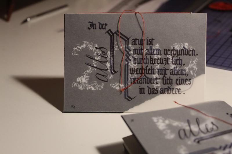 Jahreswechsel 2019-20: Kalligrafie, Scherenschnitt, Malerei, Grafik, 3