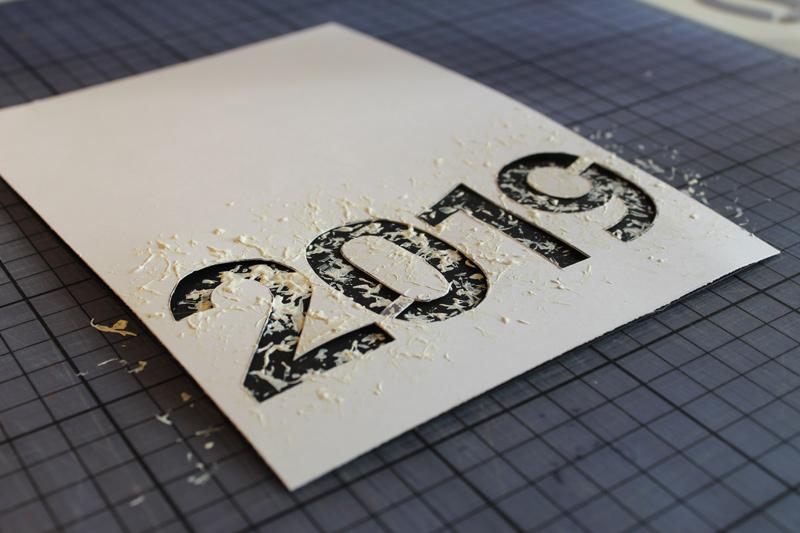 Jahreswechsel 2019-20: Kalligrafie, Scherenschnitt, Malerei, Grafik, 4