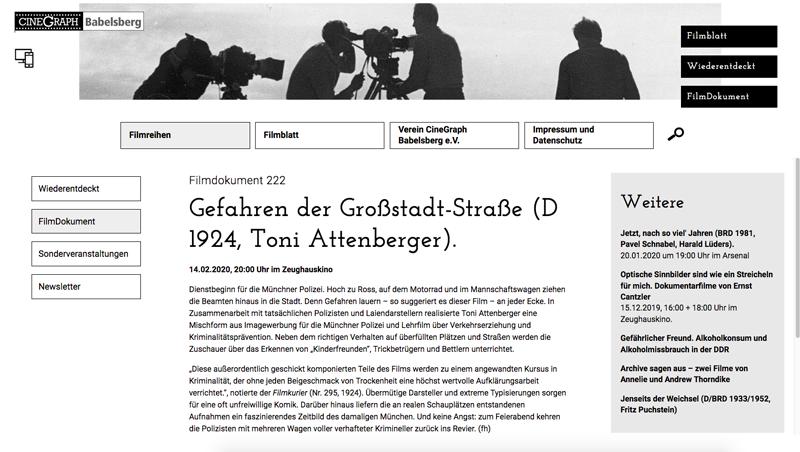 Filmblatt Cinegraph Babelsberg Screenshot 1