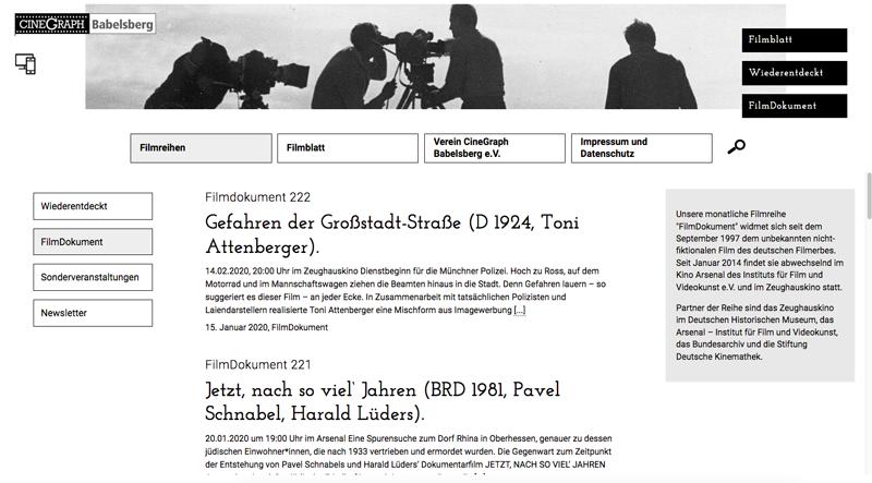 Filmblatt Cinegraph Babelsberg Screenshot 2