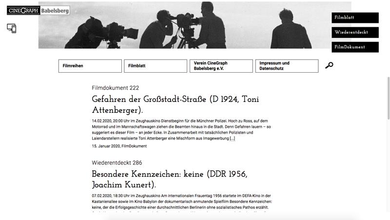 Filmblatt Cinegraph Babelsberg Screenshot 3