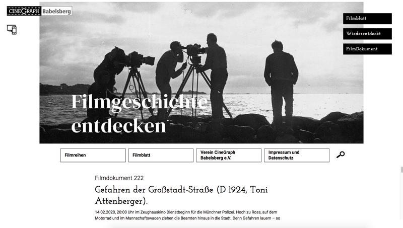 Filmblatt Cinegraph Babelsberg Screenshot 4