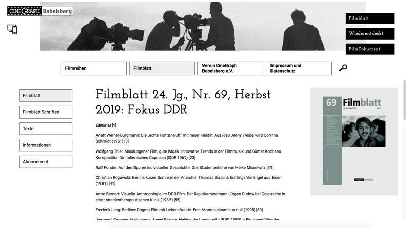 Filmblatt Cinegraph Babelsberg Screenshot 5