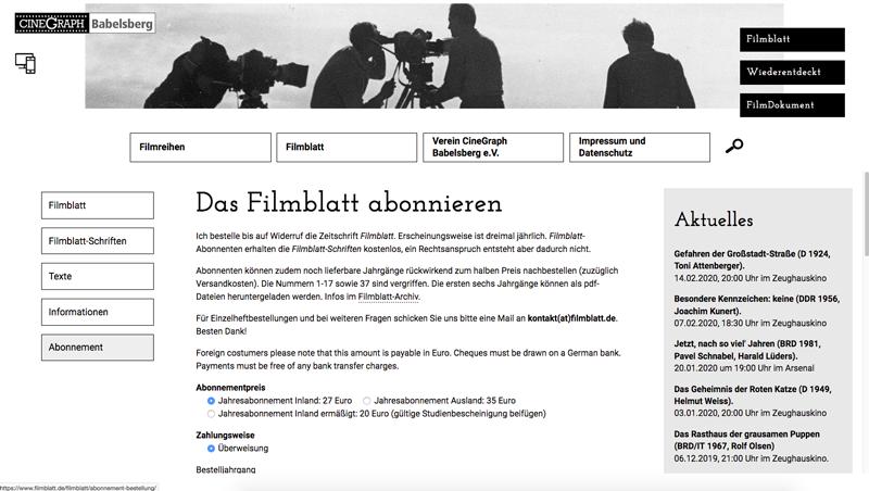 Filmblatt Cinegraph Babelsberg Screenshot 6
