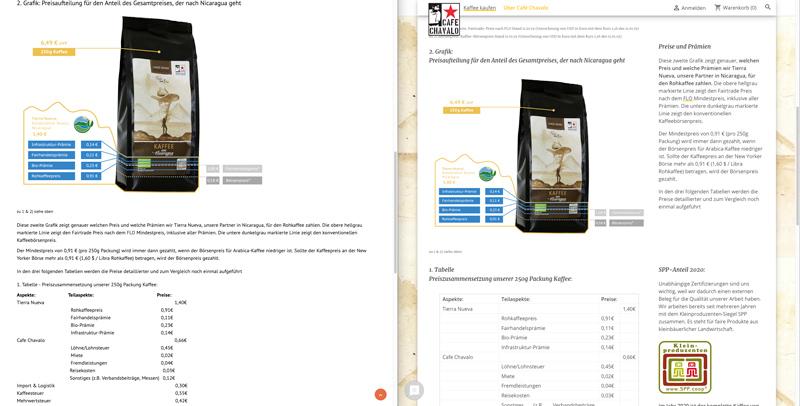 Screenshot-Contentseite-Zahlen-und-Fakten-Tabellen-Prestashop-Cafe-Chavalo-Segelkaffee-20210128